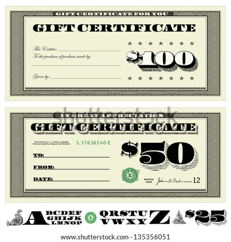 Vector Financial Certificates. Easy to edit. All layers are separated. - stock vector