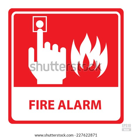 Vector : Fire alarm sign.Eps10 - stock vector