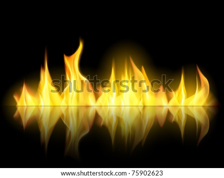 vector fire illustration - stock vector