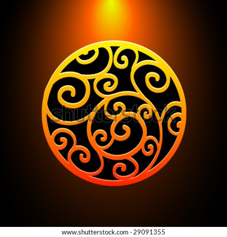 Vector Fire Ornament - stock vector
