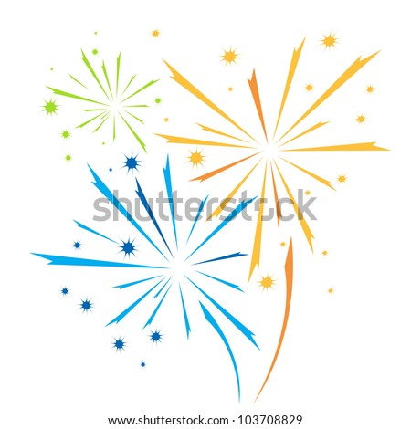Vector firework - stock vector