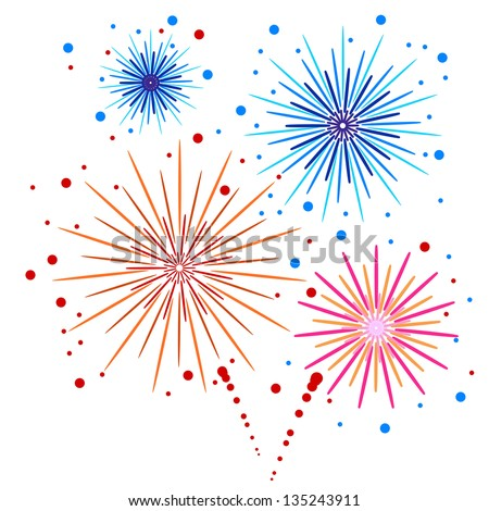 Vector firework - stock vector