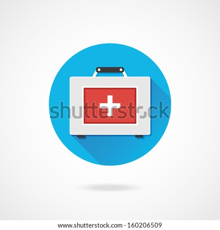 Vector First Aid Kit Icon - stock vector