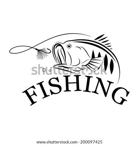 vector fishing design-illustration symbol - stock vector