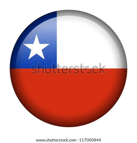 Vector flag button series - Chile