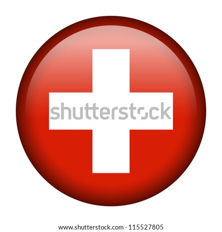Vector flag button series - Switzerland - stock vector