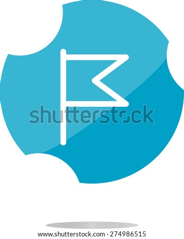 vector flag icon, web design element isolated on white - stock vector