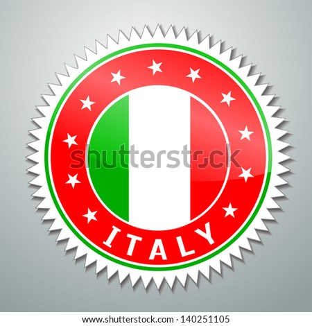 Vector flag label series - Italy
