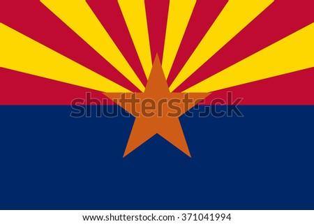 Vector Flag Arizona State Symbol Arizona Stock Vector 371041994