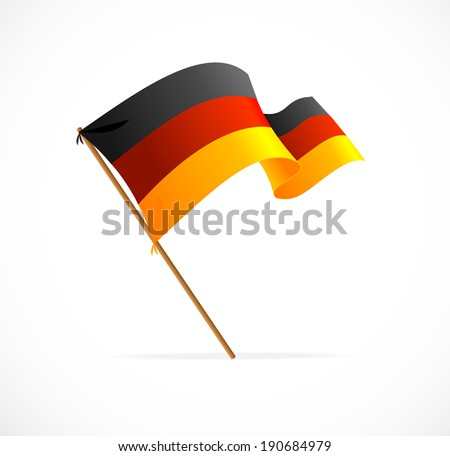 Vector Flag of Germany isolated on white - stock vector