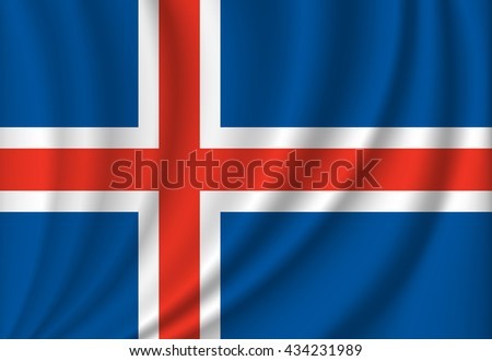 vector flag of iceland