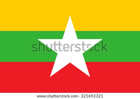 vector flag of Myanmar