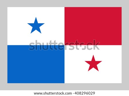 Vector flag of Panama - stock vector