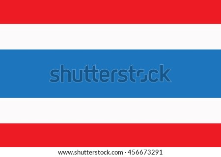 vector flag of the country Thailand - stock vector