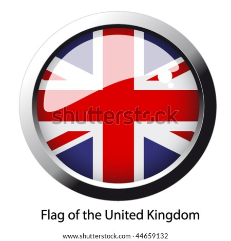 Vector flag of the United Kingdom - stock vector
