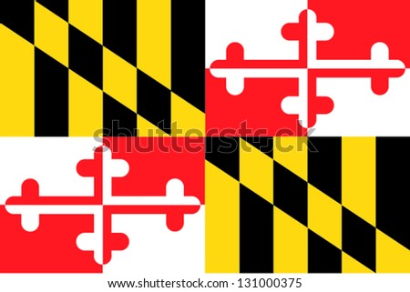 Vector flag of the United States of America State Maryland - stock vector