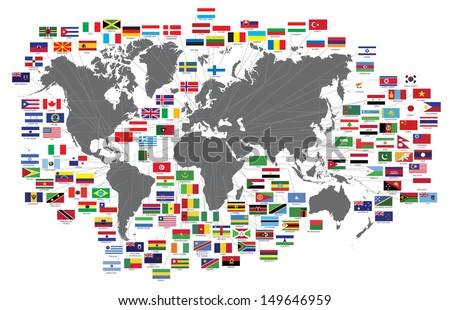 vector flags - stock vector