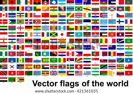 Vector flags of the world - stock vector