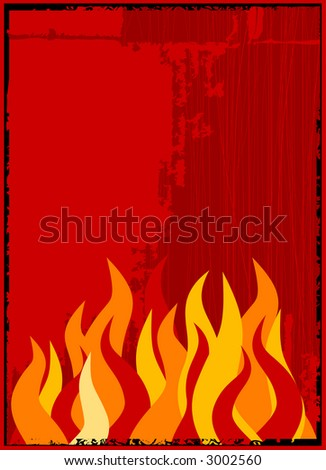 vector flame background - stock vector