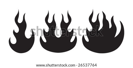 vector flame shapes - stock vector