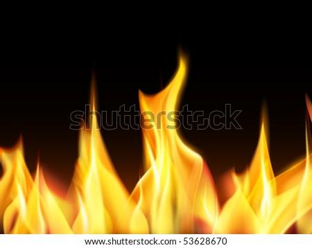 vector flames - stock vector