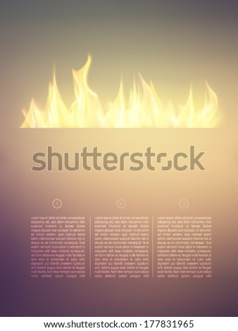 vector flames on a bright background - stock vector