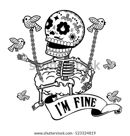 paper skeleton Swinging