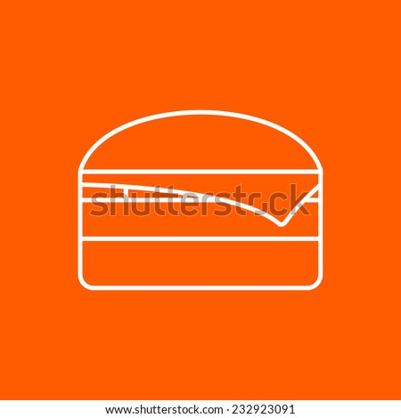 Vector flat burger icon isolated outline. Eps10 - stock vector
