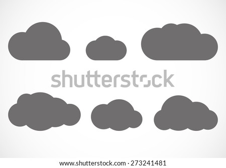 Vector flat clouds - stock vector