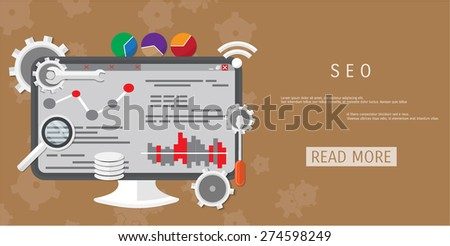 Vector flat concept of programming and coding. Debug program. Search engine optimization. Code optimization. Concepts for web banners and promotional materials.