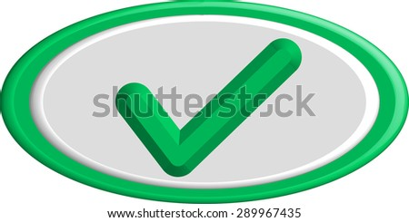 Vector Flat Design Check Marks Icons. Different Variations of Ticks and Crosses Represents Confirmation, Right and Wrong Choices, Task Completion, Voting. - stock vector