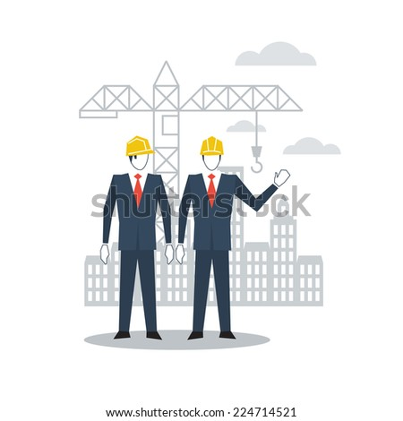 vector flat design civil engineering - stock vector