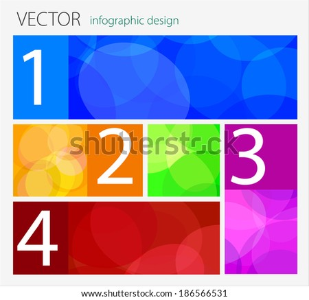 vector flat design  / infographic template with place for your content  - stock vector