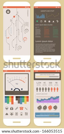 Vector Flat Elements of Infographics   - stock vector