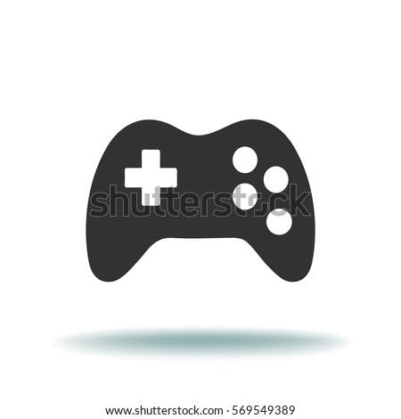 game controller icon vector illustration stock vector