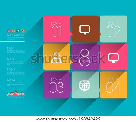 Vector Flat Graphic Design Template - stock vector