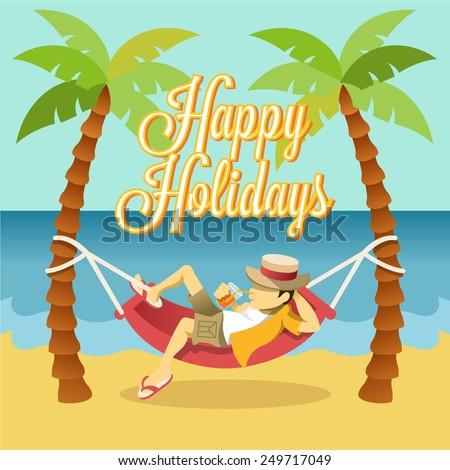 Vector flat holiday banner - stock vector