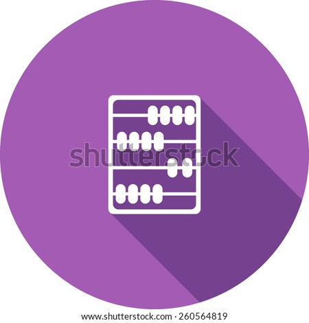 Vector Flat Icon of abacus. Isolated on stylish color background. Element with a long shadow. Modern illustration for web and mobile. - stock vector
