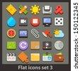 vector flat icon-set 3 - stock vector