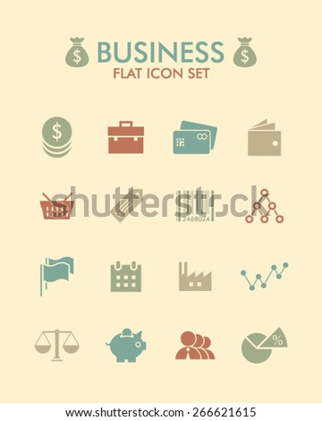 Vector Flat Icon Set - Business