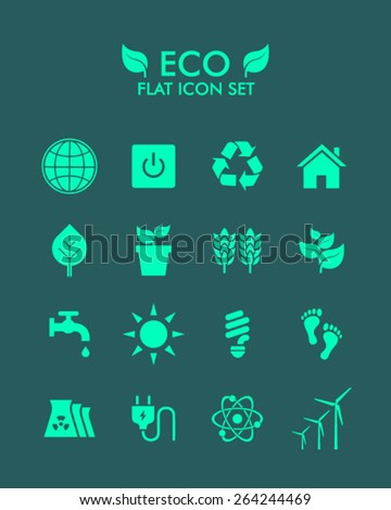 Vector Flat Icon Set - Eco