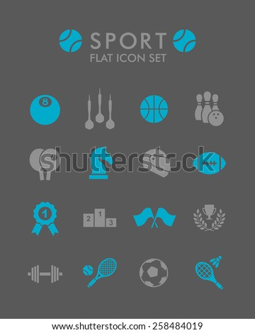 Vector Flat Icon Set - Sport  - stock vector