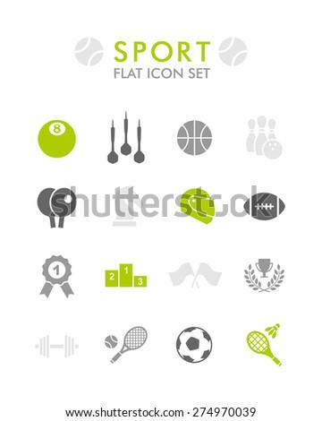 Vector Flat Icon Set - Sport  - stock vector