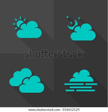 Vector Flat Icons - Cloud  - stock vector