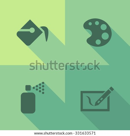 Vector Flat Icons - Graphics - stock vector