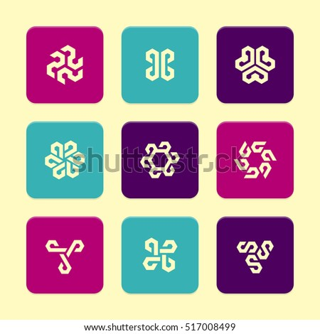 Vector Flat Icons Set - Abstract Symbols