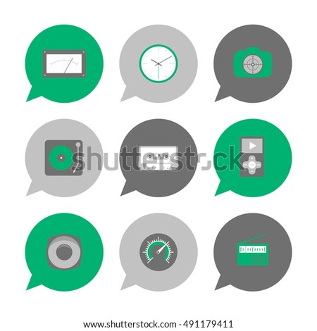 Vector Flat Icons Set - technology gadgets