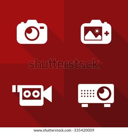 Vector Flat Icons - Visual - stock vector