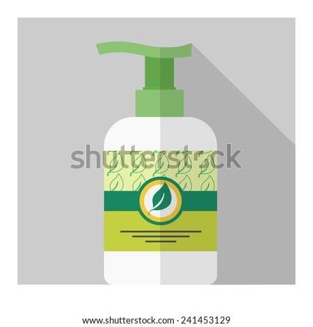 Vector flat liquid soap bottle. Flat cosmetic. Eps10 - stock vector