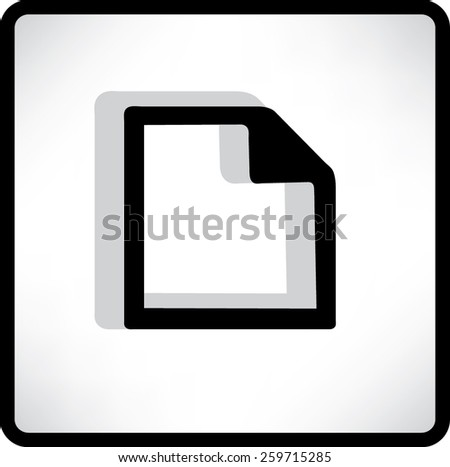 Vector Flat Note Icon - stock vector